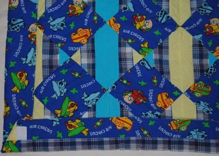 "Авторский рисунок на ткани -  ""Семочкино одеяло """